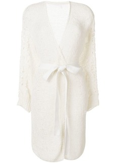See by Chloé lace appliqué belted cardigan