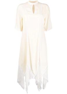 See by Chloé lace asymmetric hem dress
