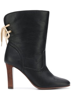 See by Chloé lace back ankle boots