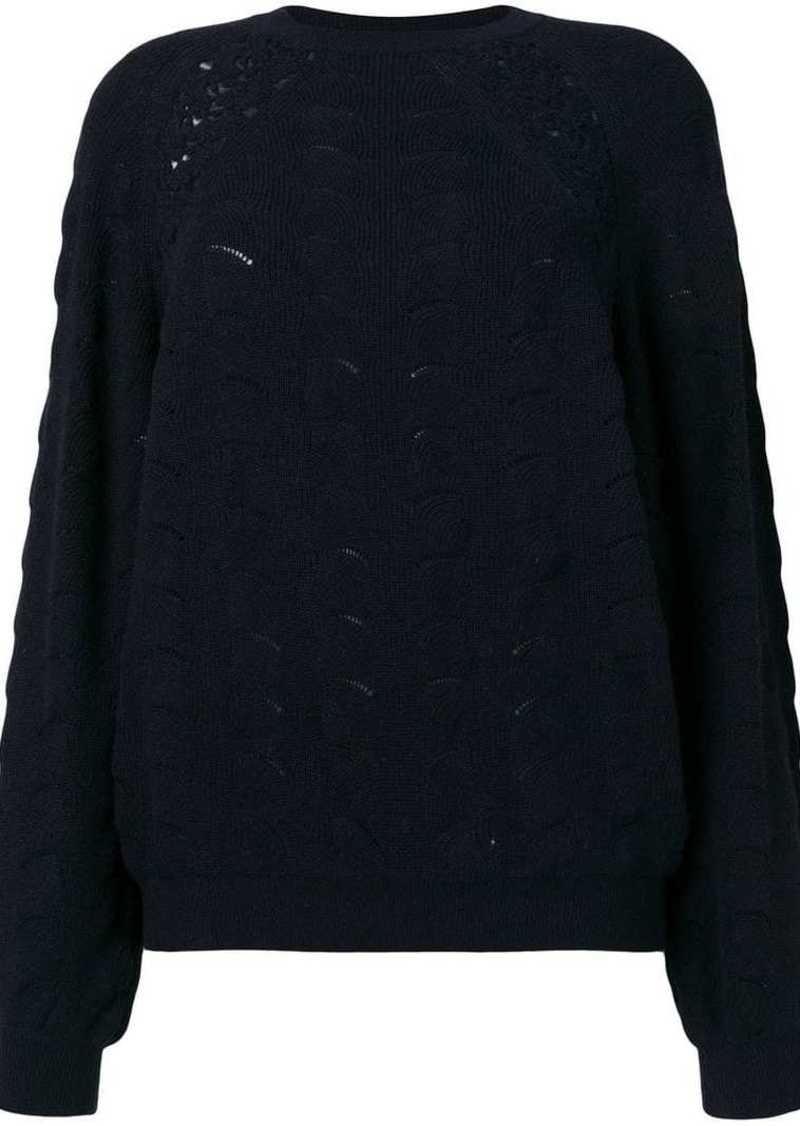 See by Chloé lace crochet knit sweater