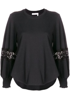 See by Chloé lace detail blouse
