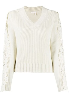 See by Chloé lace detail jumper