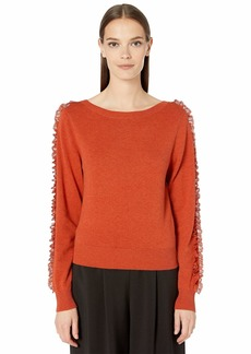 See by Chloé Lace Detail Long Sleeve Sweater