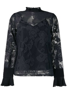 See by Chloé lace embroidered blouse