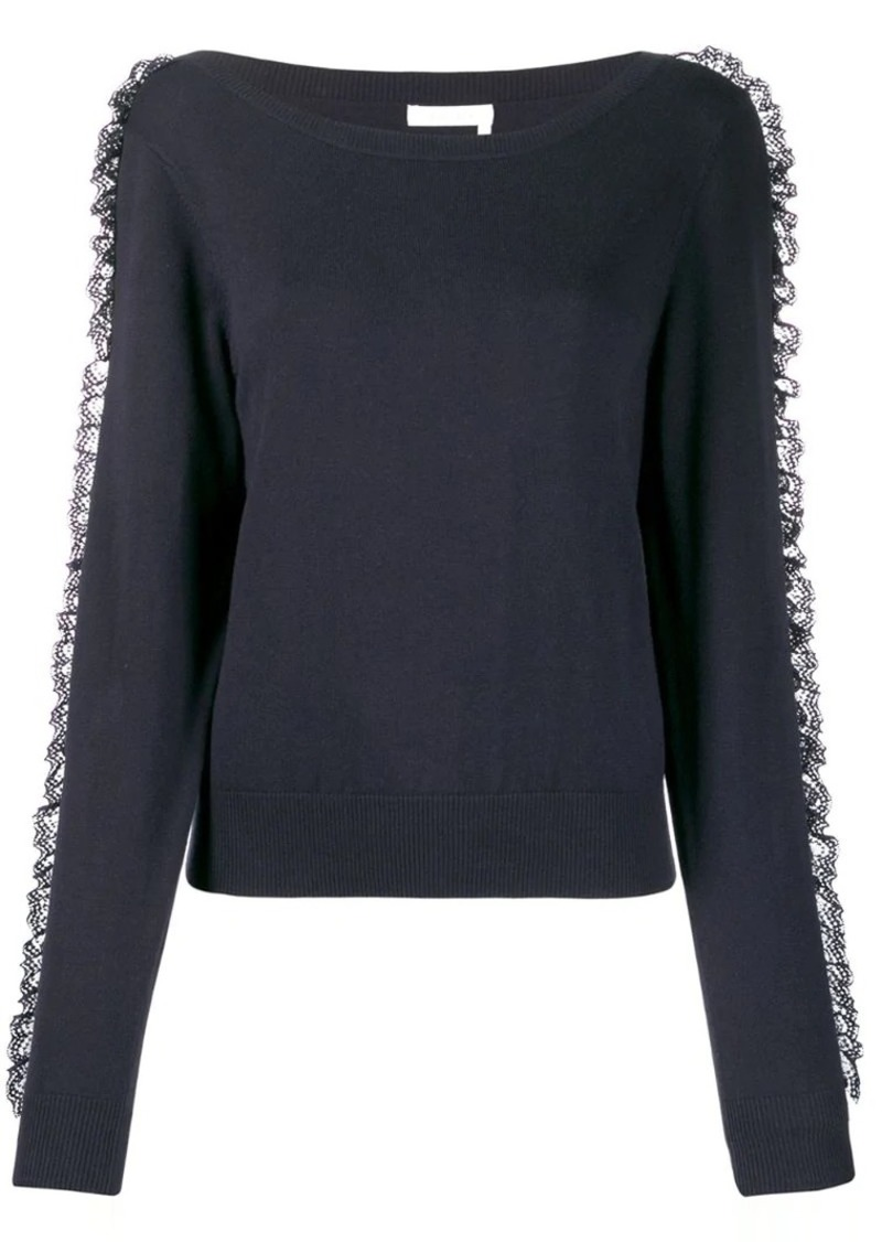 See by Chloé lace frill jumper