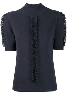 See by Chloé lace frill knitted top