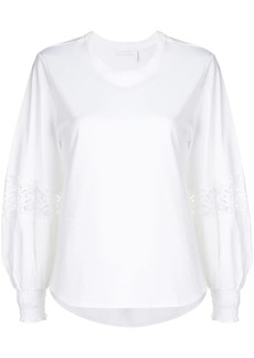 See by Chloé lace insert balloon sleeve blouse