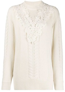 See by Chloé lace insert jumper