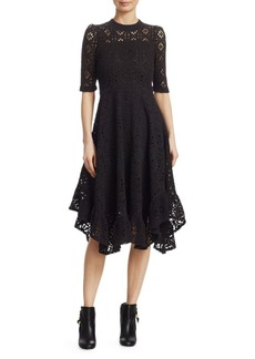 See by Chloé Lace Jersey Midi Dress