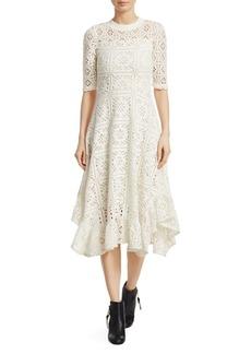 See by Chloé Lace Jersey Midi Dress