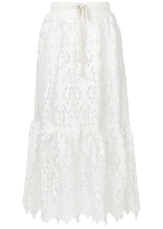 See by Chloé lace midi skirt