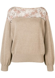 See by Chloé lace-panelled sweater