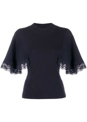 See by Chloé lace short-sleeve jumper