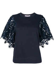 See by Chloé lace-sleeve top