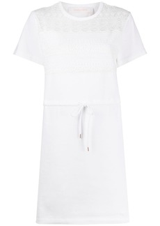 See by Chloé lace T-shirt dress