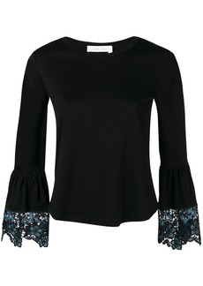 See by Chloé lace trim cropped top