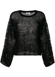 See by Chloé lace trim sleeve pullover