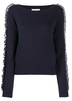 See by Chloé lace-trim sweater