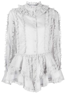 See by Chloé lace trimmed shirt