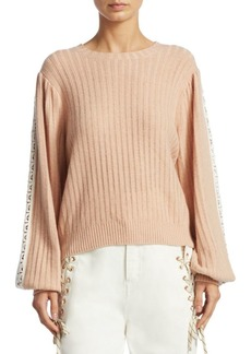 See by Chloé Lace-Trimmed Wool-Blend Sweater