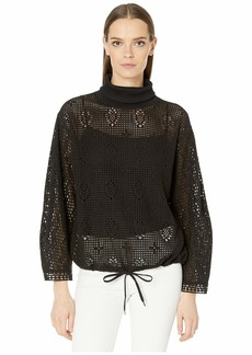 See by Chloé Lace Turtleneck Layering Sweater