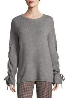 See by Chloé Lace-Up Sweater