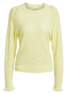 See by Chloé Lacey Long-Sleeve Wool-Blend Knit Sweater