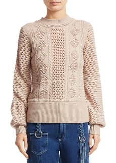 See by Chloé Lacey Wool Knit Sweater