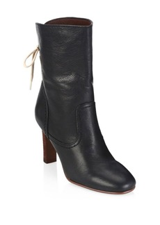 See by Chloé Lara Black Lace-Up Boots