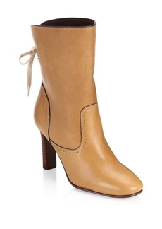 See by Chloé Lara Tan Lace-Up Boots