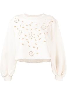 See by Chloé laser cut floral sweatshirt