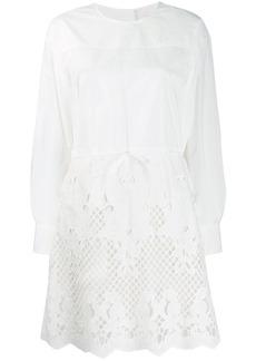 See by Chloé laser-cut shirt dress