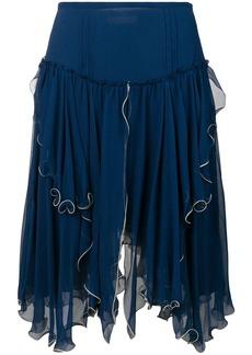 See by Chloé layered asymmetric skirt