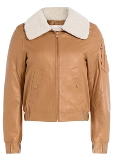 See by Chloé Leather Bomber Jacket