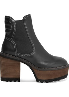 See by Chloé Erika leather platform ankle boots