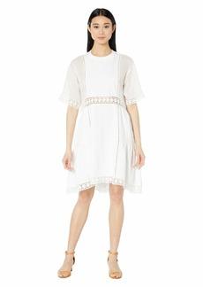 See by Chloé Linen Combo T-Shirt Dress