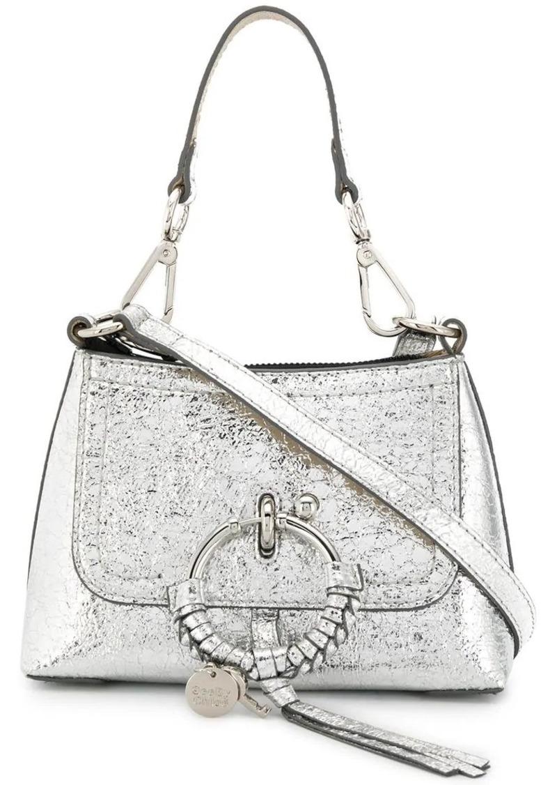 logo charm shoulder bag
