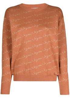 See by Chloé logo-print crew-neck pullover