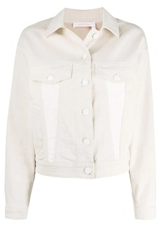 See by Chloé logo-print denim jacket