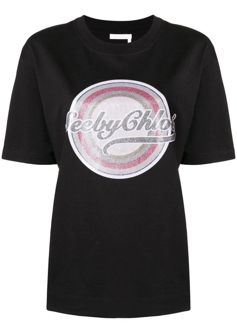 See by Chloé logo-printed T-shirt