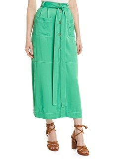 See by Chloé Long Button-Front Skirt with Pockets