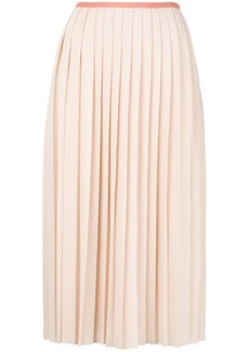 See by Chloé long pleated skirt