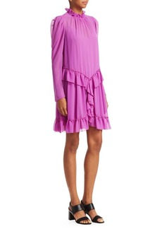 See by Chloé Long Sleeve Ruffle Dress