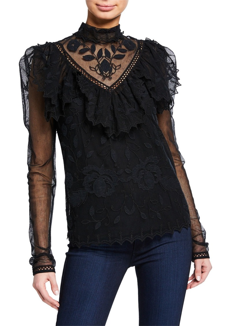 See by Chloé Long-Sleeve Victorian Lace Blouse