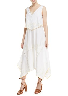 See by Chloé Long Tiered Cotton Handkerchief Dress