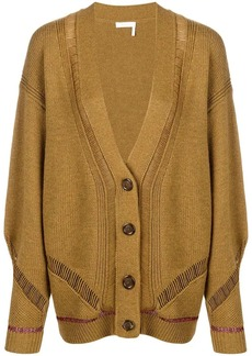 See by Chloé longline sheer stripe cardigan