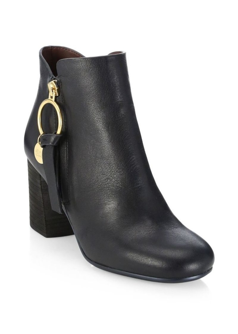 See by Chloé Louise Stacked Heel Booties