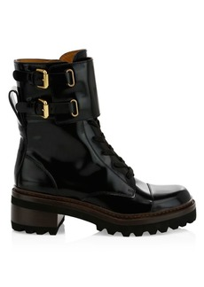 See by Chloé Mallory Leather Combat Boots