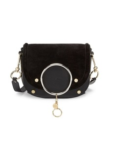 See by Chloé Mara Suede & Leather Crossbody Bag