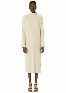 See by Chloé Maxi Sweater Dress with Slit